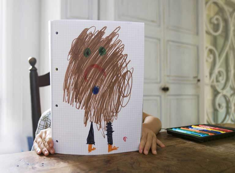 Kids drawing at home