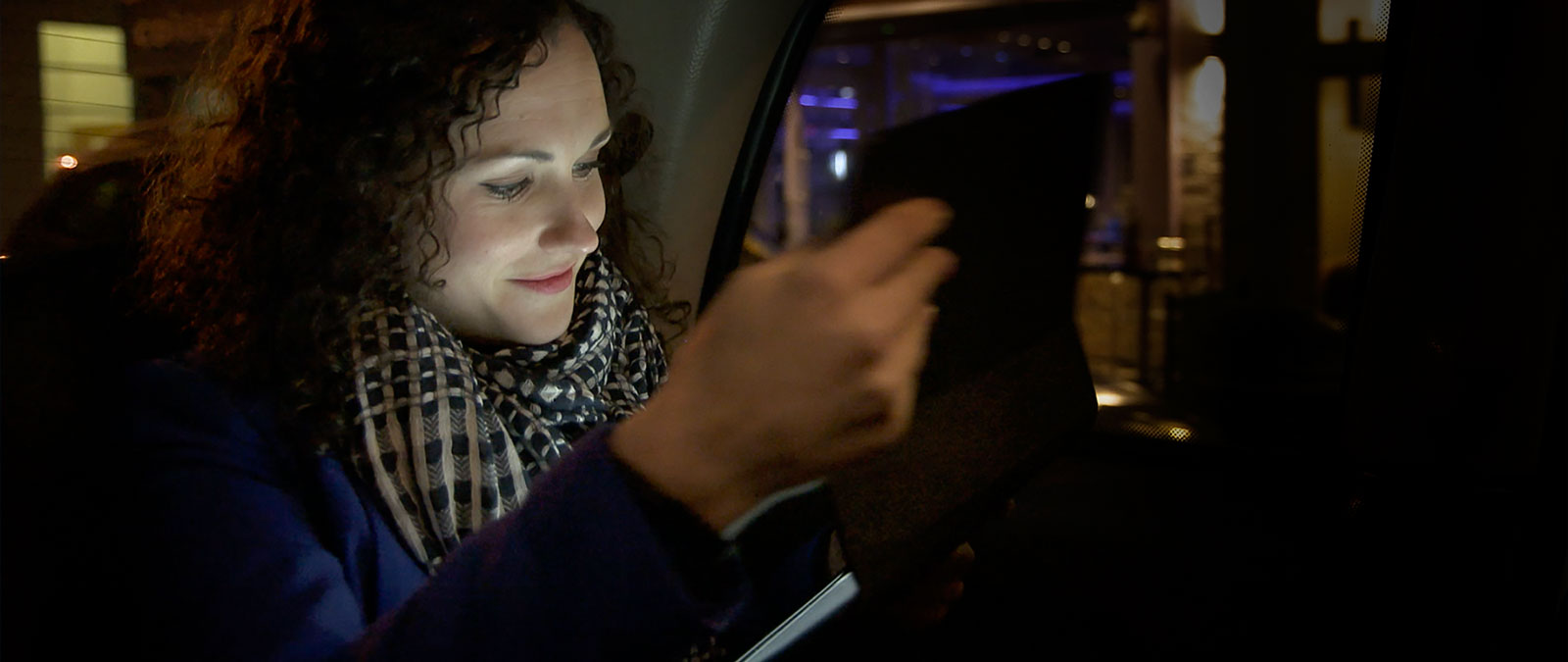 Women in taxi